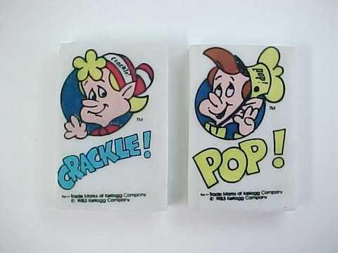 1983 kellogg s rice krispies snap crackle and pop erasers kellogg
