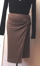 $1195 DONNA KARAN ruched signature label collection Elastic jersey skirt M - $192.40
