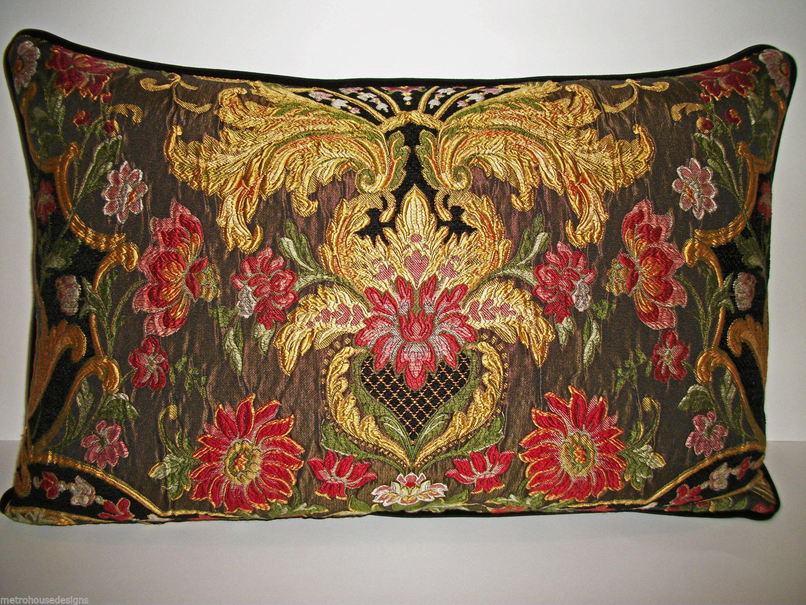 Primary image for RESERVED: AUBUSSON TAPESTRY CHENILLE LUMBAR PILLOW