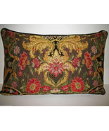 RESERVED: AUBUSSON TAPESTRY CHENILLE LUMBAR PILLOW  - $115.00