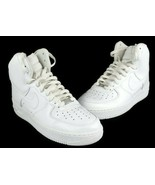 Nike Air Force 1 High High Top White Men's Sneakers 315121 115 Size 9 - $88.79