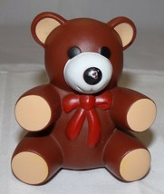 Ross Teddy Bear 1985 Baby Toy Vtg Squeaker Squeak Brown - $8.87