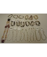 Necklaces Bracelets Qty 23 Shell Wood Plastic B... - $48.84