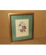 Print Vintage Framed Matted Camilias 28in x 24i... - $75.36
