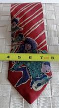 Kenneth Cole Silk Men Tie Gold Red People Necktie Power Stripes - $9.00