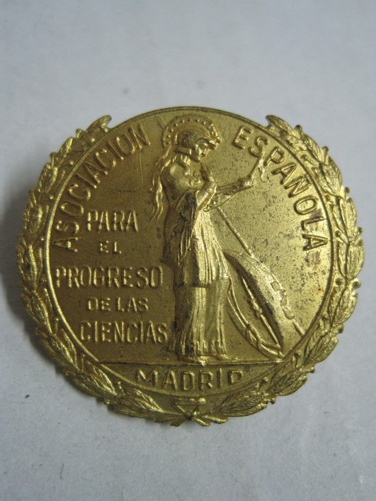 Primary image for Antique Badge Spanish association for the advancement of science Madrid in metal