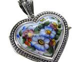 02003425 gerochristo 3425 silver porcelain heart locket pendant 1 thumb155 crop
