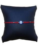 Small Circular Evil Eye String Bracelet, Red Cord - $12.99