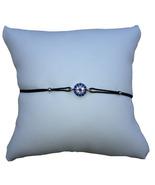 Small Circular Evil Eye String Bracelet, Black Cord - $12.99