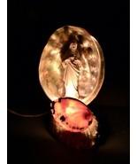 Vintage Sea Shell Jesus TV Lamp Nightlight MidCentury Kitsch - £45.94 GBP