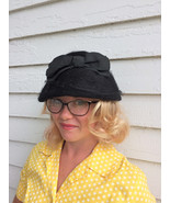 Vintage Soft Black Hat Casual Cute Midcentury - $28.00