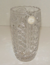 """Beautiful Vintage Antique Large Crystal Clear 24% Lead Crystal Vase 8"""" tall Cr"""