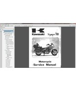 86-03 Kawasaki ZG1200 Voyager XII Service Repair & Parts Manual CD --- Z... - $12.00