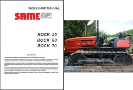 SAME Rock 55 / Rock 60 / Rock 70 Tractor Service Repair Manual CD - $12.00