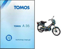 Tomos A35 Moped Service Repair Workshop Manual CD ---- A 35 - $12.00