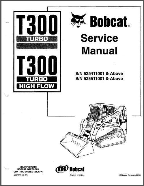 bobcat t300 turbo skid steer loader service repair. Black Bedroom Furniture Sets. Home Design Ideas