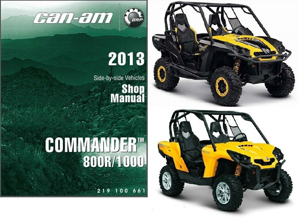 2013 Can-Am Commander 800R / 1000 Service Repair Shop Manual CD --- BRP 800 R
