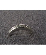 Vintage Sterling Silver 13 pts White CZ Band Ring 2.0 grams - $20.00
