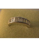 Vintage Sterling Silver 1.0 ctw White CZ Band Ring 4.0 grams - $15.00