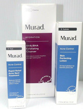 MURAD 3 IN ONE HYDRATION AHA/BHA -RAPID RELIEF ACNE SPOT-SKIN PERFECTING... - $83.30