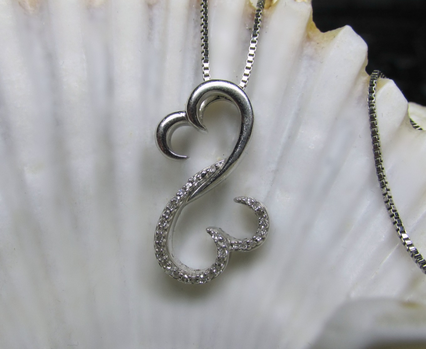 jane seymour open heart diamond necklace and 50 similar items. Black Bedroom Furniture Sets. Home Design Ideas