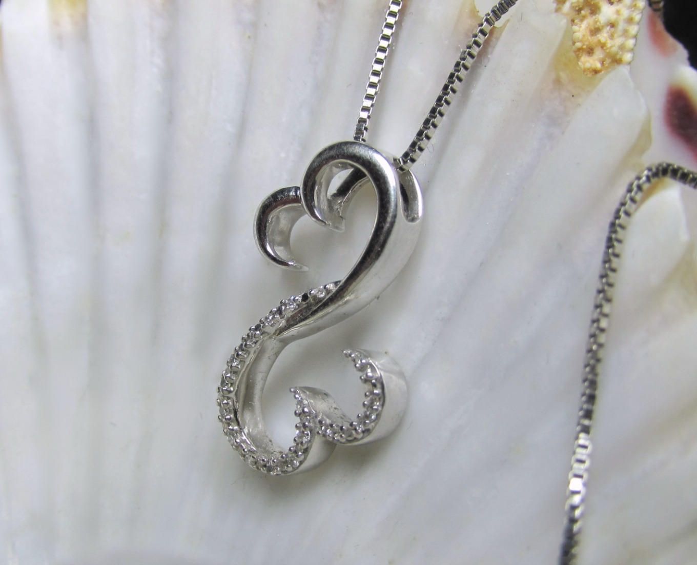 Jane seymour open heart diamond necklace and 50 similar items jane seymour open heart diamond necklace sterling silver 18 box aloadofball Images