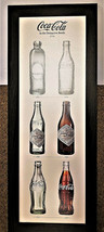 "Coke Bottles Coca Cola Established 1886 Framed Print 15""x39"" - $38.41"