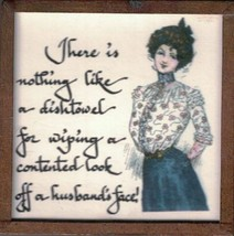There is Nothing Like a Dishtowel...Harvey Wallhangers Sassy Ladies Magn... - $4.94