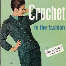Crochet Is The Fashion 1965 Clothing Patterns Women 1 Man  Bear Brand Fl... - $12.86