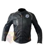 CHAMPIONS LEAGUE FOOTBALL CLUB COWHIDE LEATHER MOTORCYCLE ARMOURED JACKET - $209.99