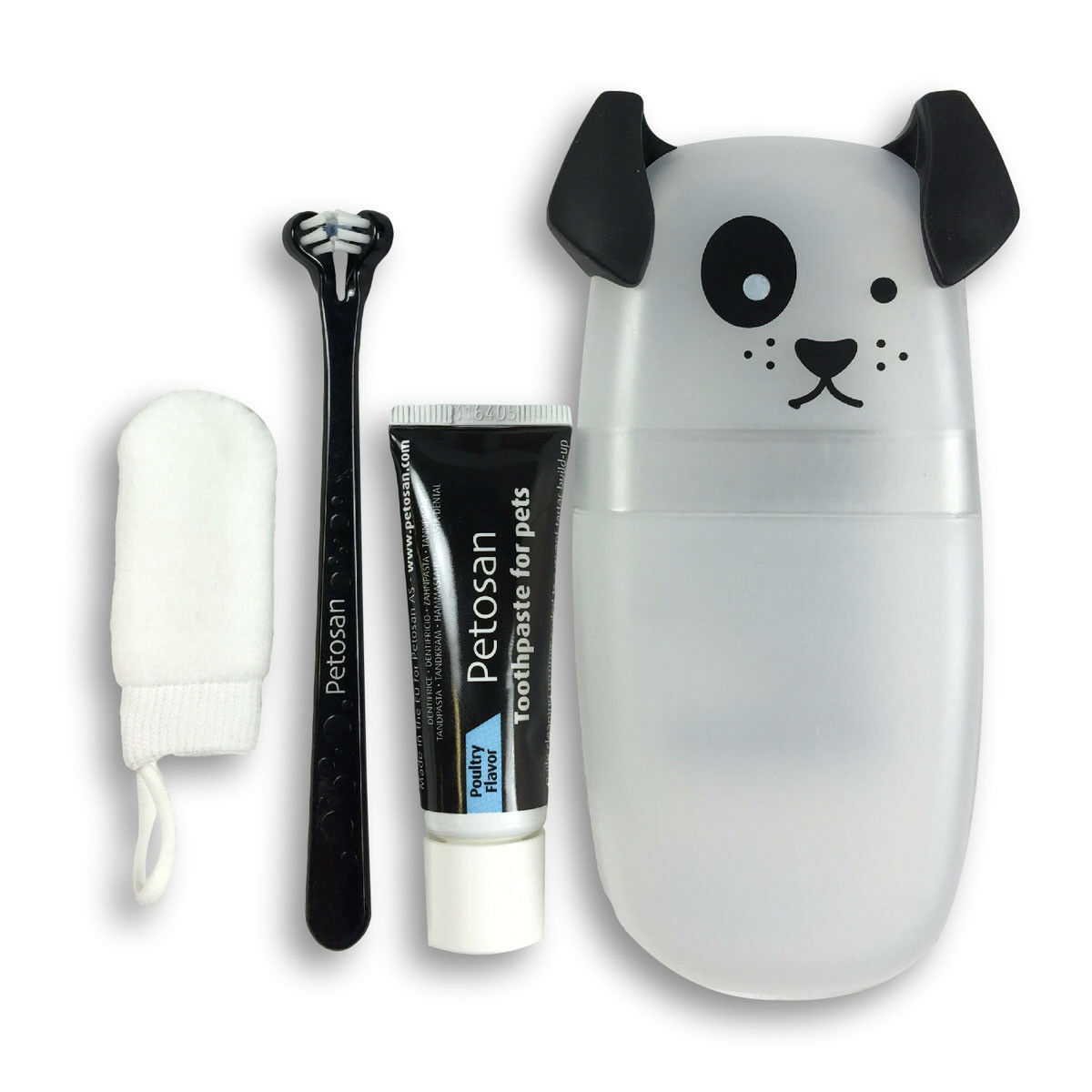 Primary image for PETOSAN DOUBLE HEADED DENTAL TOOTHBRUSH KIT PUPPIES TOY DOGS CATS
