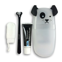 PETOSAN DOUBLE HEADED DENTAL TOOTHBRUSH KIT PUPPIES TOY DOGS CATS - $19.59
