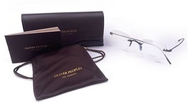 OLIVER PEOPLES Unisex Pewter Rimless Glasses with case OV 1227 5244 49mm - $295.99