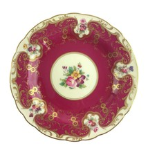 """Antique Royal Worcester Hand Painted Floral Gold Gilt Lunch Plate 9"""" Fla... - $37.36"""