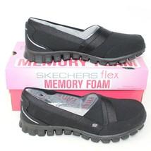 Skechers EZ Flex 2 Womens Black Slip On Memory Foam Sneaker Shoes US Sz ... - £42.97 GBP