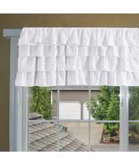Chiffon WHITE Ruffle Layered Window Valance any size - $29.99+