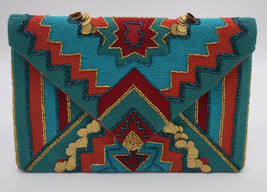 Multi Colored Evening Clutch, Wedding Gift, Clutch Bag, Party Bag, Party... - $41.75