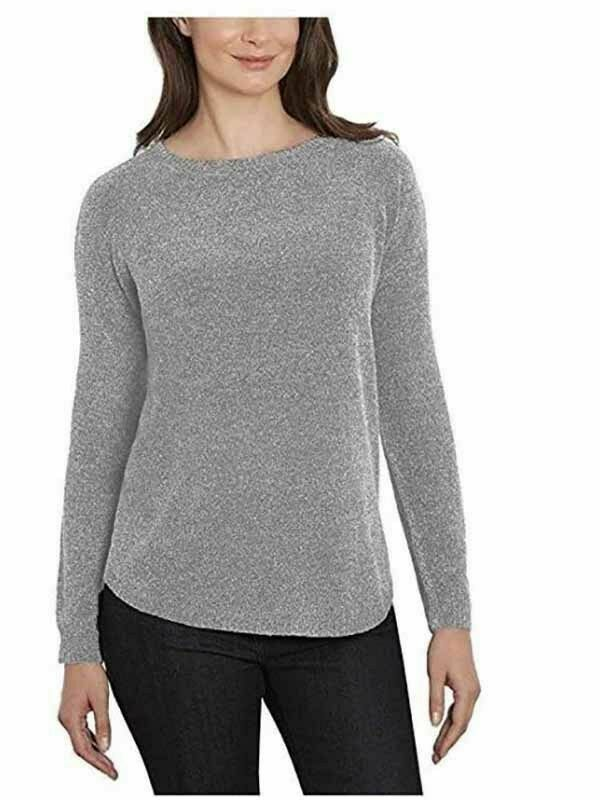 Primary image for Ellen Tracy Women's Scoop Neck Super Soft Chenille Tweed Sweater Sz XL 2XL