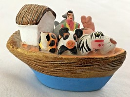 "Multi 2 3/4"" Noah's Ark - Boat Figurine w Animals - $5.81"