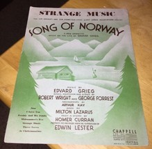 Strange Music From Song of Norway 1944 Sheet Music - $2.99