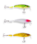 Ugly Duckling fishing Lures, 3 amazing balsa wood Shallow Runner rare crankbaits - £38.90 GBP