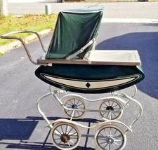 Vintage Antique Toy Baby Doll Rocking Buggy Stroller Carriage, Pram Viny... - $99.99
