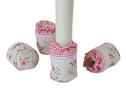 DRAGON SONIC Set of 4 Lace Cloth Chair/Table Leg Pad Furniture Sock Floo... - $11.36