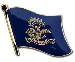 State of North Dakota ND Flag Bike Motorcycle Hat Cap lapel Pin - $18.00