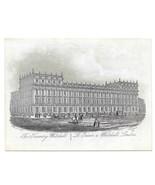 The Treasury Whitehall Steel LIne Engraving 1851 J T Wood Views of Londo... - $9.95