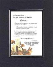 Personalized Touching and Heartfelt Poem for Grandmother - Grandma Poem ... - $22.72