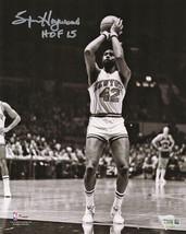 """Spencer Haywood Signed New York Knicks B&W 8x10 Photo w/ """"HOF '15"""" - £38.20 GBP"""