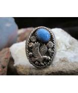 Vintage Navajo RB Robert Begay Sterling Silver Sodalite Eagle Mens Ring ... - $170.00