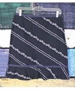 Ann Taylor LOFT 6 Blue White Polka Dot Floral A-Line Skirt Career Office... - $24.74