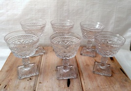 Imperial Glass Cape Cod Clear Set of 6 Champagne Stems Glasses image 2
